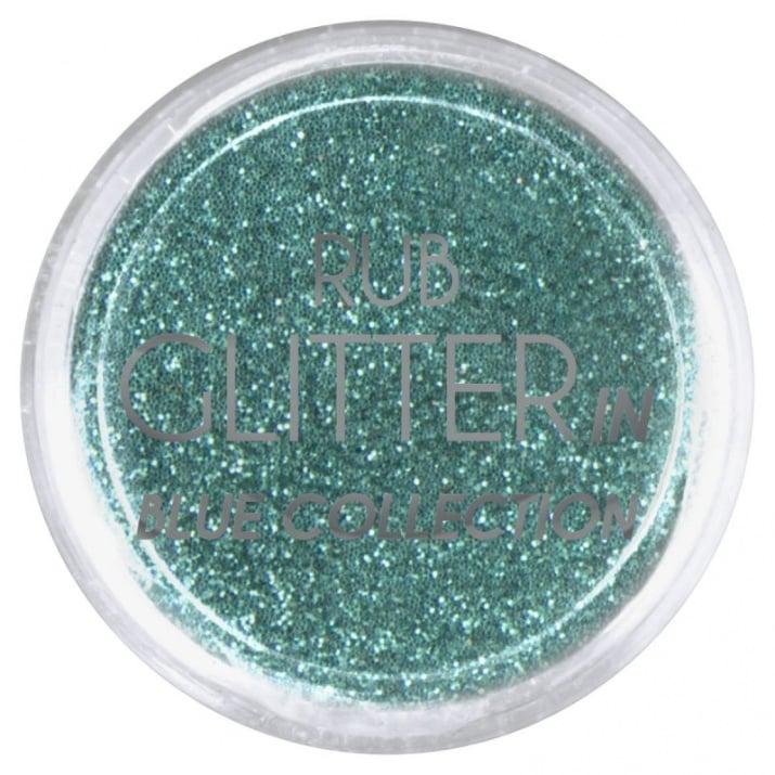 RUB GLITTER -  6 + 1 ПОДАРЪК Брокатна пудра 50 цвята RUB GLITTER: Rub Glitter in Blue Collection - 2