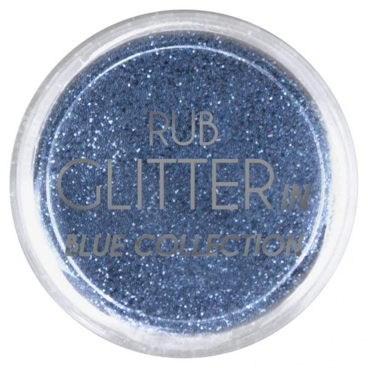 RUB GLITTER -  6 + 1 ПОДАРЪК Брокатна пудра 50 цвята RUB GLITTER: Rub Glitter in Blue Collection - 3