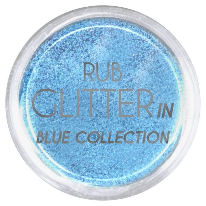 RUB GLITTER -  6 + 1 ПОДАРЪК Брокатна пудра 50 цвята RUB GLITTER: Rub Glitter in Blue Collection - 4