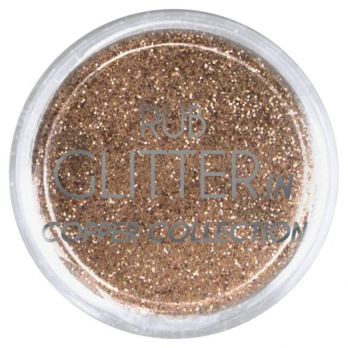 RUB GLITTER -  6 + 1 ПОДАРЪК Брокатна пудра 50 цвята RUB GLITTER: Rub Glitter in Copper Collection - 1