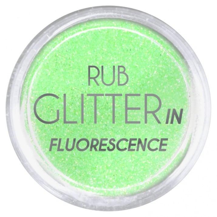 RUB GLITTER -  6 + 1 ПОДАРЪК Брокатна пудра 50 цвята RUB GLITTER: Rub Glitter in Fluorescence - 1