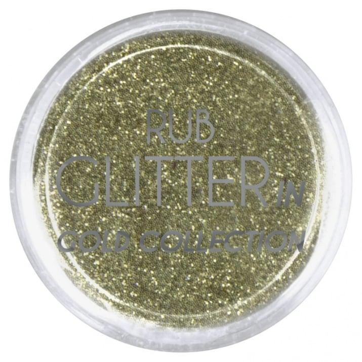 RUB GLITTER -  6 + 1 ПОДАРЪК Брокатна пудра 50 цвята RUB GLITTER: Rub Glitter in Gold Collection - 1