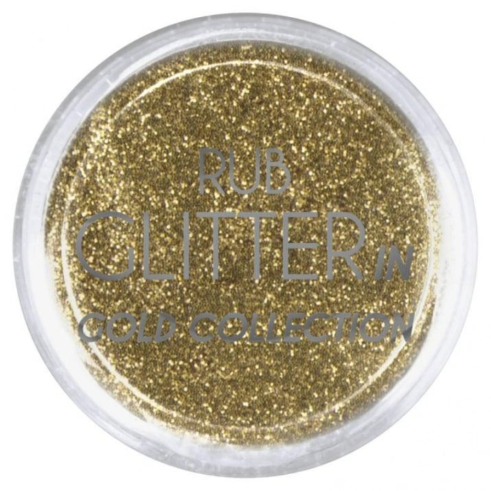 RUB GLITTER -  6 + 1 ПОДАРЪК Брокатна пудра 50 цвята RUB GLITTER: Rub Glitter in Gold Collection - 2