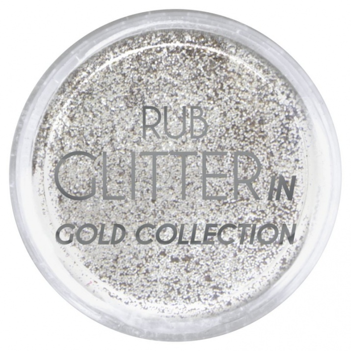RUB GLITTER -  6 + 1 ПОДАРЪК Брокатна пудра 50 цвята RUB GLITTER: Rub Glitter in Gold Collection - 4