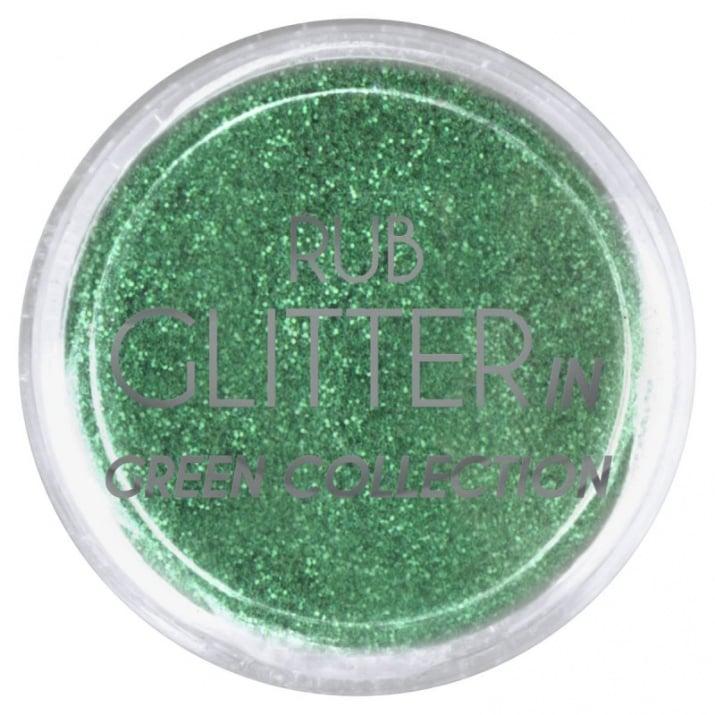 RUB GLITTER -  6 + 1 ПОДАРЪК Брокатна пудра 50 цвята RUB GLITTER: Rub Glitter in Green Collection - 1
