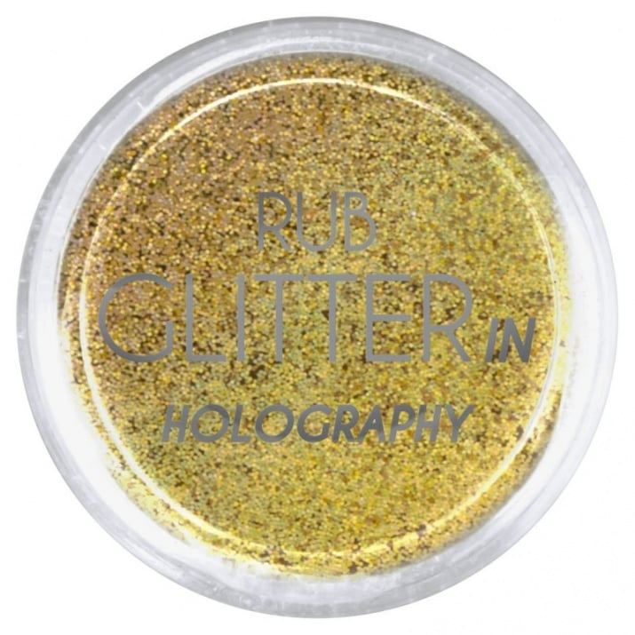 RUB GLITTER -  6 + 1 ПОДАРЪК Брокатна пудра 50 цвята RUB GLITTER: Rub Glitter in Holography - 2