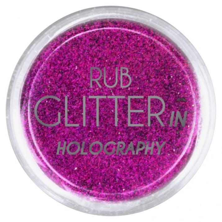 RUB GLITTER -  6 + 1 ПОДАРЪК Брокатна пудра 50 цвята RUB GLITTER: Rub Glitter in Holography - 6