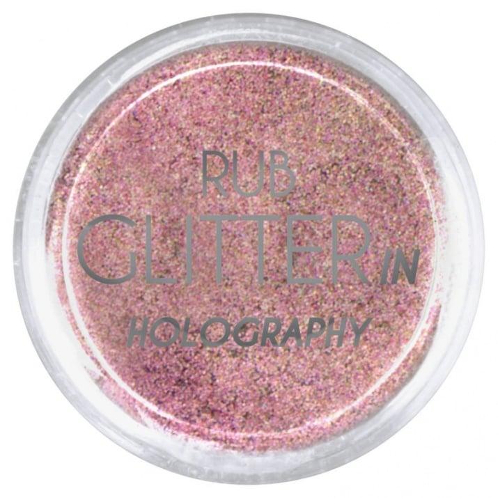 RUB GLITTER -  6 + 1 ПОДАРЪК Брокатна пудра 50 цвята RUB GLITTER: Rub Glitter in Holography - 8