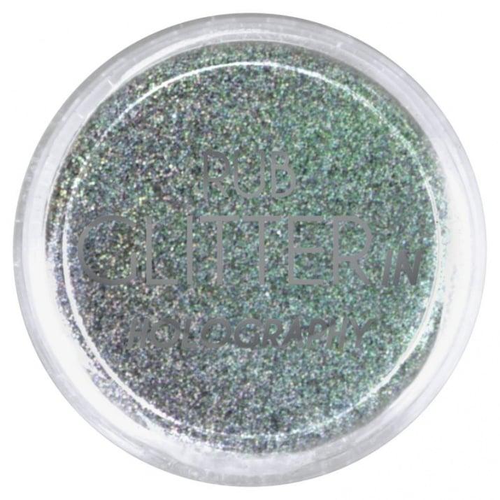 RUB GLITTER -  6 + 1 ПОДАРЪК Брокатна пудра 50 цвята RUB GLITTER: Rub Glitter in Holography - 9