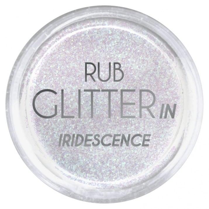 RUB GLITTER -  6 + 1 ПОДАРЪК Брокатна пудра 50 цвята RUB GLITTER: Rub Glitter in Iridescence - 1