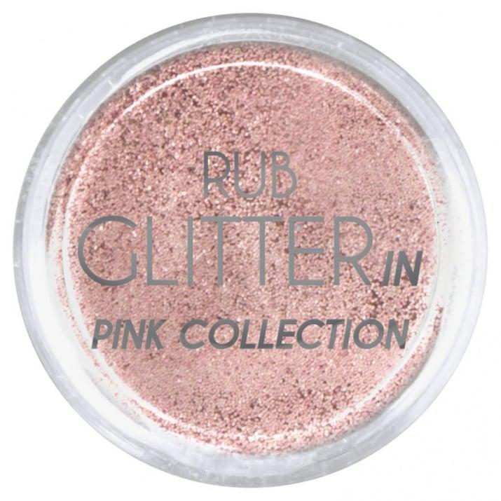 RUB GLITTER -  6 + 1 ПОДАРЪК Брокатна пудра 50 цвята RUB GLITTER: Rub Glitter in Pink Collection - 1