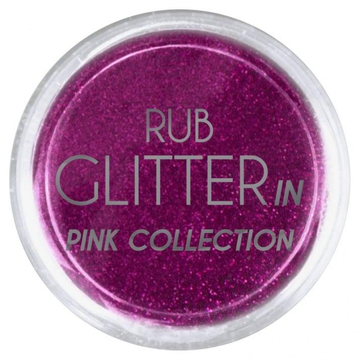 RUB GLITTER -  6 + 1 ПОДАРЪК Брокатна пудра 50 цвята RUB GLITTER: Rub Glitter in Pink Collection - 2