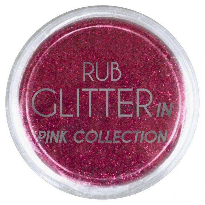 RUB GLITTER -  6 + 1 ПОДАРЪК Брокатна пудра 50 цвята RUB GLITTER: Rub Glitter in Pink Collection - 3