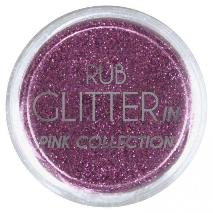 RUB GLITTER -  6 + 1 ПОДАРЪК Брокатна пудра 50 цвята RUB GLITTER: Rub Glitter in Pink Collection - 4