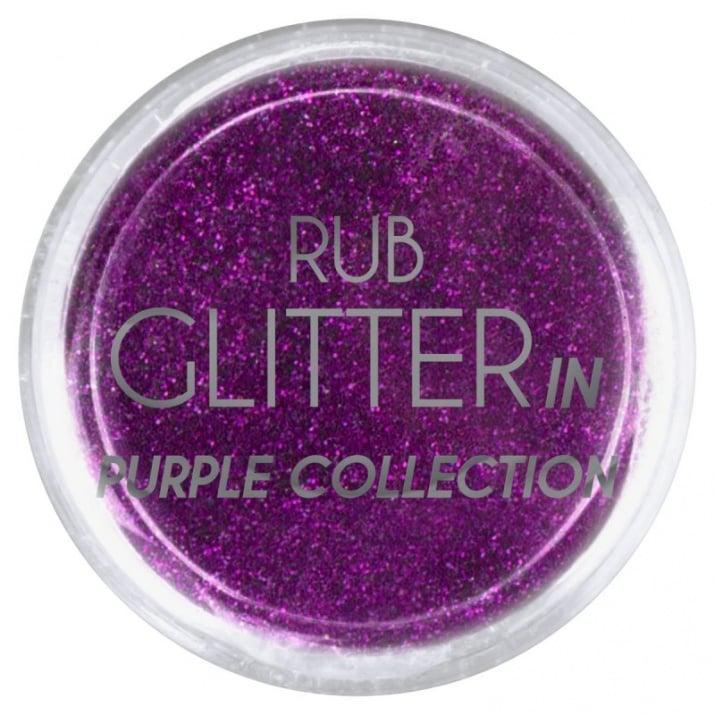 RUB GLITTER -  6 + 1 ПОДАРЪК Брокатна пудра 50 цвята RUB GLITTER: Rub Glitter in Purple Collection - 2