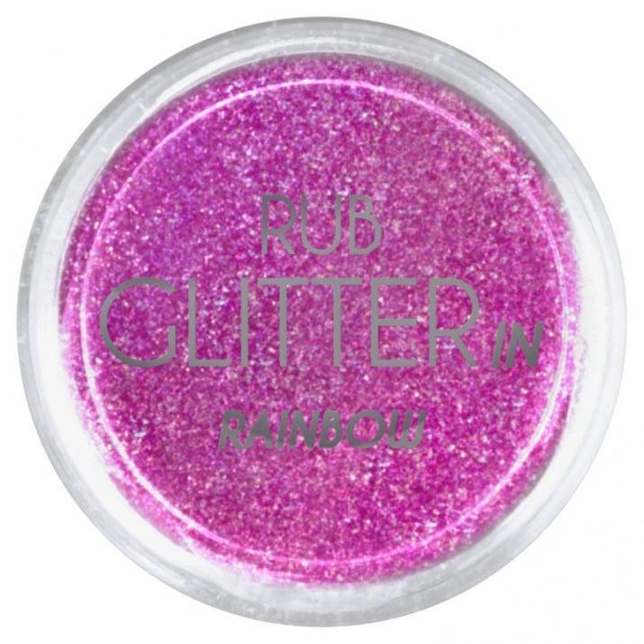 RUB GLITTER -  6 + 1 ПОДАРЪК Брокатна пудра 50 цвята RUB GLITTER: Rub Glitter in Rainbow - 1