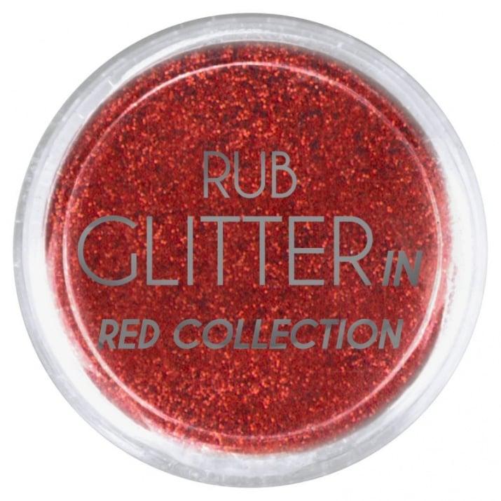 RUB GLITTER -  6 + 1 ПОДАРЪК Брокатна пудра 50 цвята RUB GLITTER: Rub Glitter in Red Collection - 1