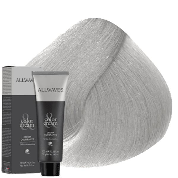 Боя за коса Allwaves Color Cream 100мл + 150мл оксидант T1 Платинено пепелно