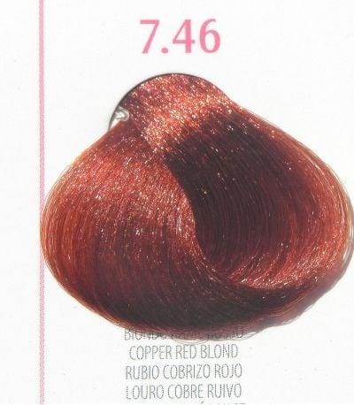 Young Color You - Боя за коса 100мл + оксидант 150мл Young Color You: Червени цветове №7.46 - медно червено рус