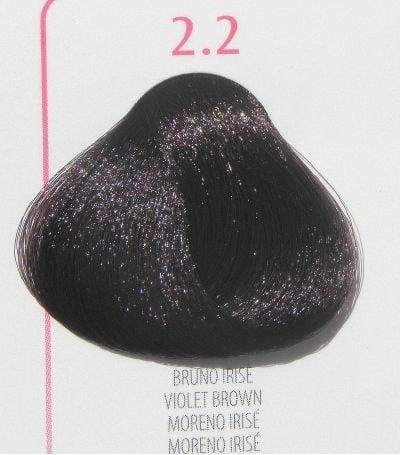Young Color You - Боя за коса 100мл + оксидант 150мл Young Color You: Виолетови цветове №2.2 - виолетово-кафяв