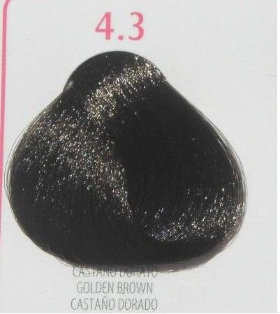 Young Color You - Боя за коса 100мл + оксидант 150мл Young Color You: Златисти цветове №4.3 - златисто-кафяв