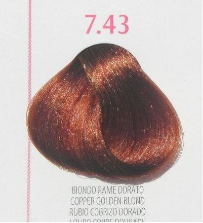 Young Color You - Боя за коса 100мл + оксидант 150мл Young Color You: Златисто-кестеняви цветове №7.43 - медно златисто рус
