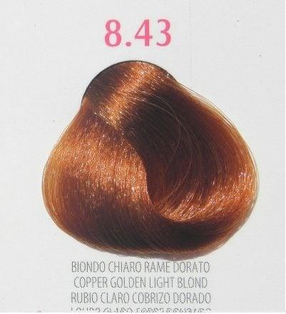 Young Color You - Боя за коса 100мл + оксидант 150мл Young Color You: Златисто-кестеняви цветове №8.43 - медно златисто светло рус
